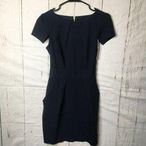 Closet Womens Tie Back Mini Pocket Dress Zip 8 NWT